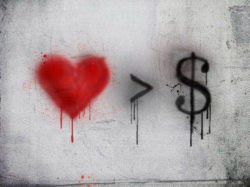 love vs. money