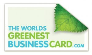 WorldsGreenBusCard 300x182 The Worlds Greenest Business Card