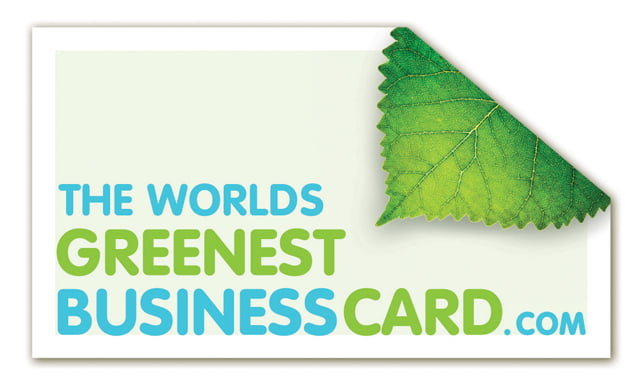 The worlds greenest business card marketingforhippiescom for Sustainable business cards