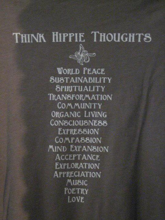 hippie thoughts think hippie thoughts
