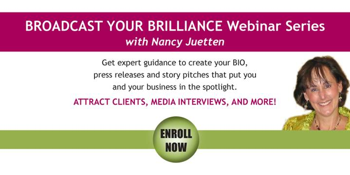 nancy webinar Are you ready for the spotlight? An interview with PR genius Nancy Juetten