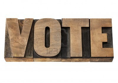 15279911-vote--election-concept--isolated-word-in-vintage-letterpress-wood-type