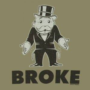 broke monopoly july 27
