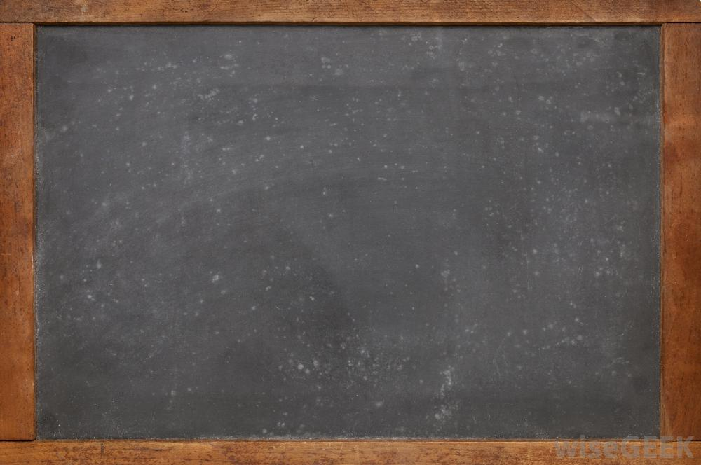 how to clean a black slate chalkboard