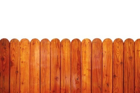 20260629 - grunge wooden fence isolated on white, clipping path